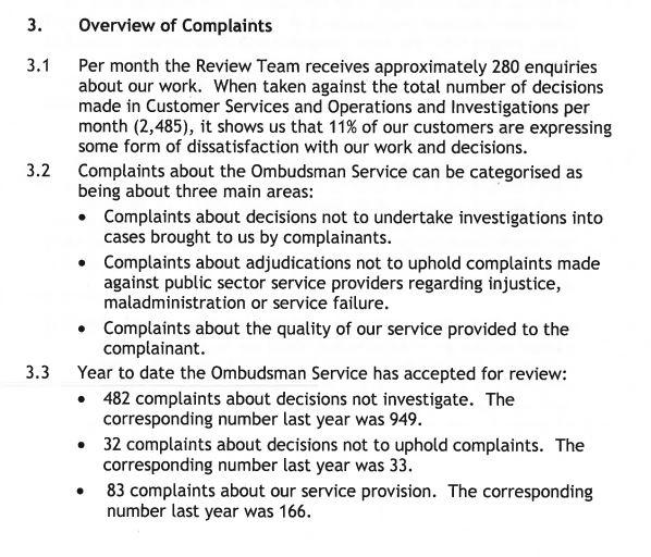 Mick Martin 2014 complaint figures 2